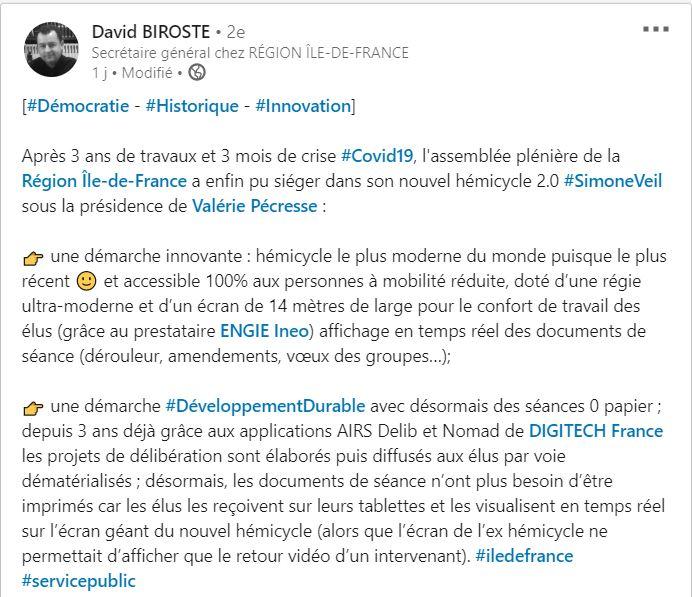 Digitech équipe La Région Ile de France